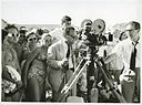 Filmmaker James Fitzpatrick, a camera crew and a crowd of people at Bondi Beach (7834883146).jpg