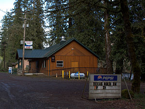 Finn Rock, Oregon - Closed restaurant in Finn Rock