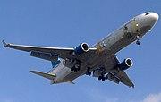 Finnair McDonnell Douglas MD-11 (OH-LGB) landing at Helsinki-Vantaa Airport