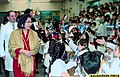 "First Lady Dr. Luisa ""Loi"" Ejercito Estrada acknowledges the greetings of schoolchildren at the Escuela de la Republica de Filipinas (1999).jpg"