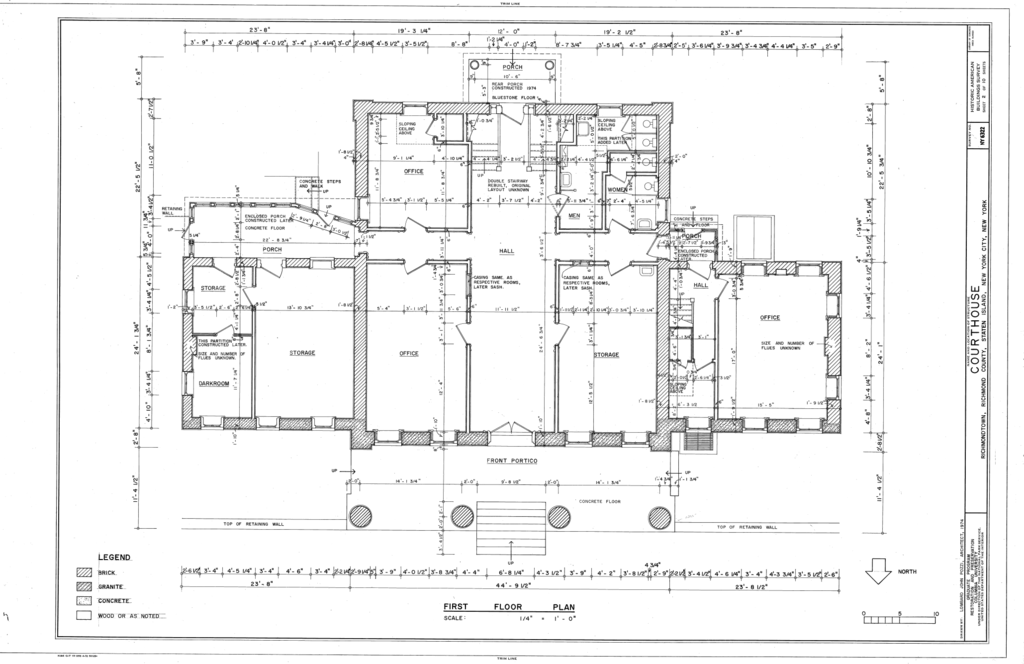First Floor Plan Courthouse Staten Island Richmond Subdivision County