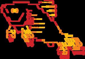 Friendly interactive shell - Image: Fish shell logo ascii