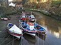 Fishing boats at Staithes on an incoming tide - geograph.org.uk - 662874.jpg