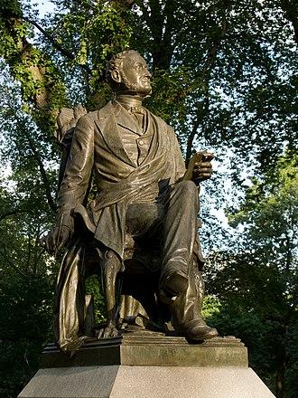 Fitz-Greene Halleck - Fitz-Greene Halleck in Central Park