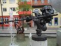 Flötenspieler Fron 2008 Brunnengalerie Wiesloch.JPG