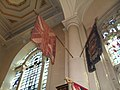 Flags within St Sepulchre, Holborn Viaduct - geograph.org.uk - 1806463.jpg