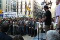 Flickr - Convergència Democràtica de Catalunya - L'alcalde de Barcelona, Xavier Trias, Oriol Pujol i Jordi Turull a la plaça Sant Jaume de Barcelona en defensa de la immersió 2.jpg