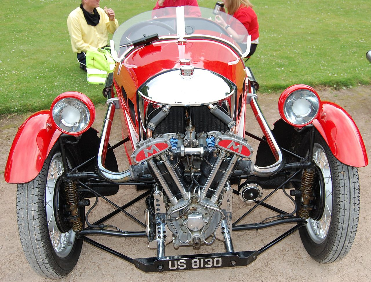 Red Three Wheeled Sports Car