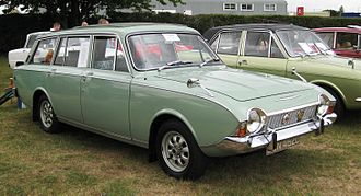 Ford Corsair - Ford Corsair V4 estate 1966. The stylish Corsair estate conversion was produced by Abbott.  It was more expensive than the Cortina estate but offered no more load capacity.