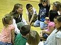 Forest Service Worker talking with Children, Wallowa-Whitman National Forest (26195911584).jpg