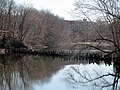 Former Essex Railroad bridge at North Andover, April 2015.JPG