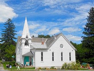 Millheim, Pennsylvania - Image: Former UCC church Milheim PA