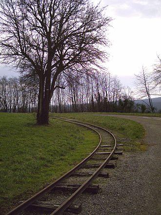 Séré de Rivières system - Military railroad at the Fort de Villey-le-Sec.
