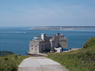Fort Albert - Fort Albert, with Hurst Castle in the background
