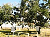 Historical markers at Anahuac, Texas