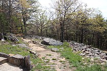 Fort mountain, Georgia wall 2016.JPG