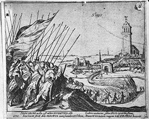 Siege of Sluis (1604) - Image: Foto naar tekening in Gemeente Archief te Sluis Sluis 20201314 RCE