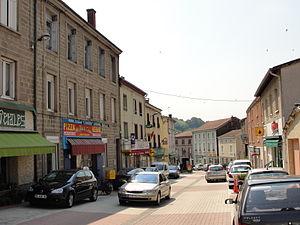La Fouillouse - The high street in La Fouillouse