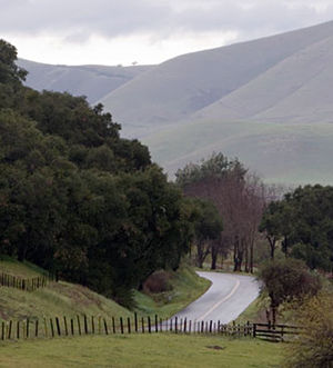Santa Maria, California - Along Foxen Canyon Road. This route provides a link between the Santa Maria and Santa Ynez Valleys