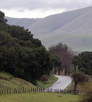 Santa Maria, California - Along Foxen Canyon Road. This route provides a link between the Santa Maria and Santa Ynez Valleys