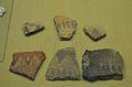 Fragments de ceràmica feta a mà amb decoració pintada, museu Soler Blasco, Xàbia.JPG