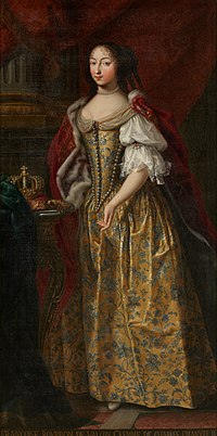 Françoise Madeleine d'Orléans (Duchess of Savoy) in Ducal regalia by an uknown artist.jpg
