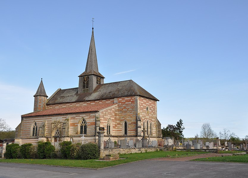 The 15th century Our Lady (Notre Dame) church in Villers-en-Argonne (canton Sainte-Menehould, Marne department, Champagne-Ardenne region, France).