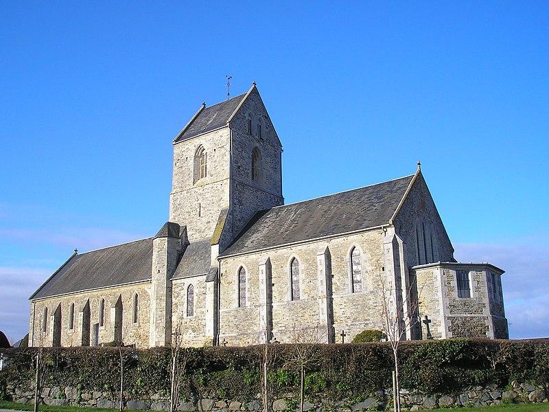 Feugères (Normandie, France). L'église Saint-Pierre.