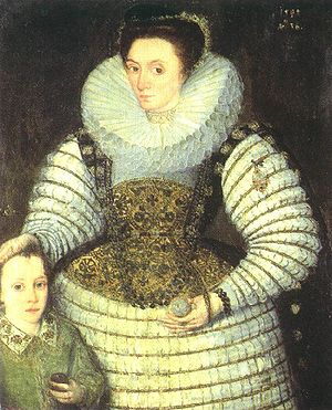 Robert Devereux, 3rd Earl of Essex - Robert Devereux as a child with his mother Frances Walsingham, countess of Essex by Robert Peake the elder, 1594