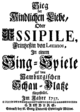 Francesco Bartolomeo Conti - Issipile - titlepage of the libretto - Hamburg 1737.png