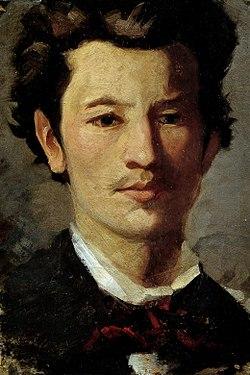 Francesco Filippini, Autoritratto giovanile, 1873-1875, olio su cartone, 32 x 21 cm, Musei Civici d'Arte e storia (Brescia), inv. 1526.jpg