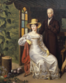 Francis I with his fourth wife Caroline Augusta.png