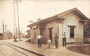 Saugus Branch Railroad - Franklin Park station in 1907