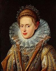 Erzherzogin Anna (1585-1618), Gemahlin von Kaiser Matthias und Tochter von Erzherzog Ferdinand II., Landesfürst von Tirol; Brustbild