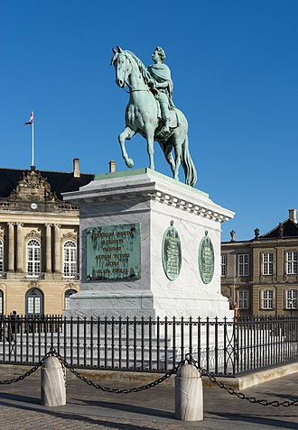 Frederik V on Horseback - Equestrian bronze statue of King Frederik V created by the French sculptor Jacques Saly.