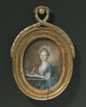 Fredrika Carleson (1743-1794), gift med 1. Carl Erik Wadenstierna, 2. Fredrik von Post - Nationalmuseum - 129586.tif