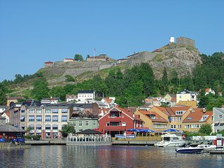 Fredriksten fort at Halden on the norwegian-swedish border