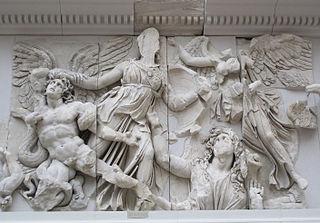 Alcyoneus giant in Greek mythology