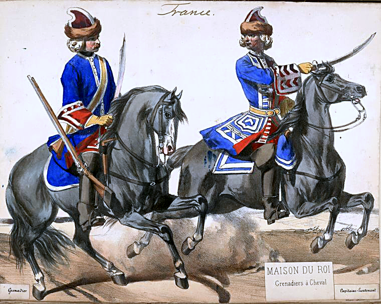 French mounted grenadiers of Louis XV