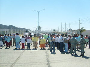 Coalition of Workers, Peasants, and Students of the Isthmus - COCEI Protest