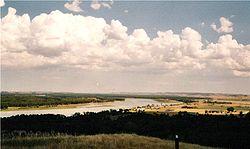 Missouri River near Fort Abraham Lincoln State Park south of Bismarck, North Dakota