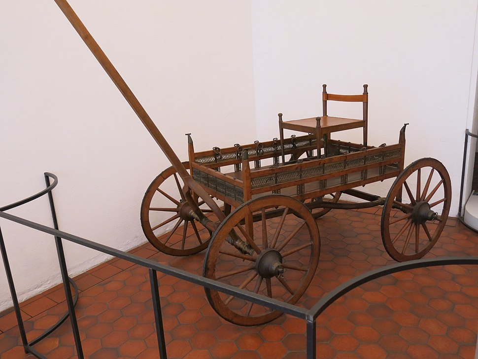Funerary chariot in the archeological museum of Strasbourg