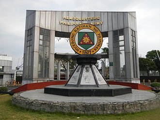 Fort Bonifacio - Main gate of the Headquarters Philippine Army