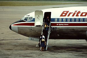 Britannia Airways - Boeing 737 at East Midlands Airport in 1982