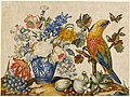 G. Lopez - Flower study with parrot (15047692169).jpg
