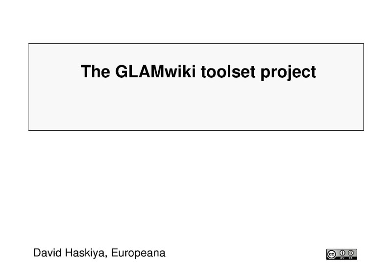 File:GLAM tooling project GLAMcamp.pdf