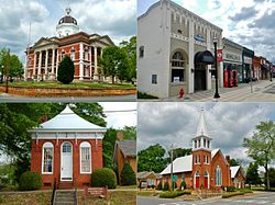The Greenville Historic District was added to the National Register of Historic Places on March 16, 1990.