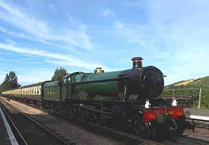 West Somerset Railway - Image: GWR Class 6959 No 6990 Raveningham Hall Williton