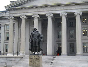 Gallatin County, Kentucky - Albert Gallatin is honored with a statue in front of the U.S. Treasury Building in Washington, D.C.