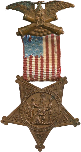 1st Missouri Volunteer Cavalry Regiment - Image: Gar medal